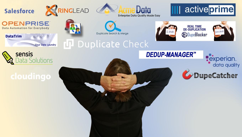 salesforce data dedupe