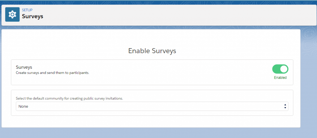 salesforce surveys
