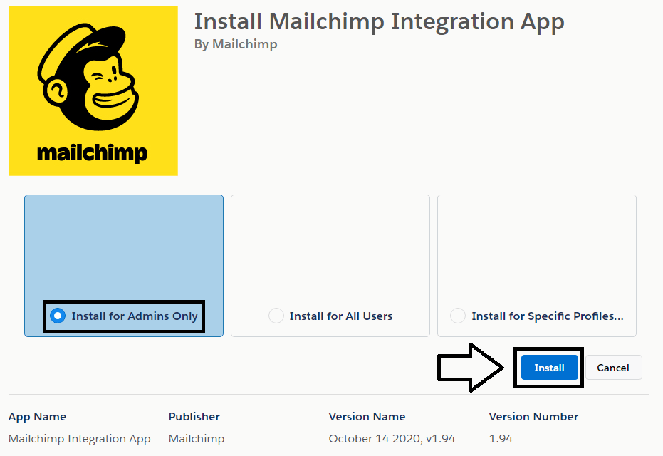 Mailchimp and Salesforce