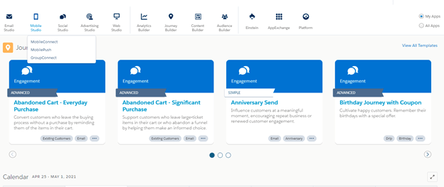 Salesforce Marketing Cloud Mobile Studio